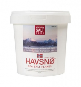 4 x 750g Norway Pure Sea Salt Flakes Chef's Bucket