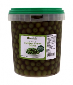 2 x 5kg Olea Italia Giant Green Sicilian Olives Sweet & Buttery