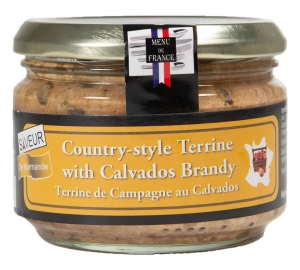 12 x 180g Country Style Terrine with Calvados Brandy