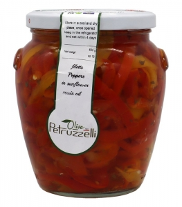 9 x 580ml Fillets of Peppers in Oil