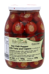 6 x 1062ml Hot Chili Peppers stuffed with Tuna & Capers