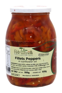 6 x 1062ml Fillets of Peppers in Oil